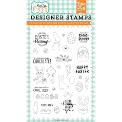 Echo Park - Hello Easter Collection - Easter Blessings Clear Stamps