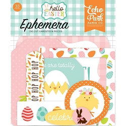 Echo Park - Hello Easter Collection - Die Cut Ephemera
