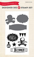 Echo Park - Hocus Pocus Collection - October 31st Die & Clear Stamp Set