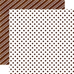 Echo Park-Dots & Stripes Holiday-Paper-Gingerbread Medium Dot