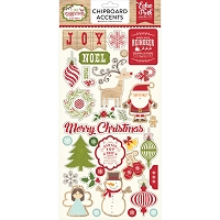 Echo Park - I Love Christmas Collection - 6x12 Chipboard