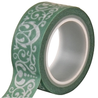 Echo Park - Jack and Jill Girl Collection - Decorative Tape Damask