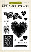 Echo Park - Lucky In Love Collection by Allison Kreft - Hello Sweetheart 4x6 Stamp