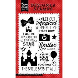 Echo Park - Magic and Wonder Collection - Smiles From Ear To Ear Clear Stamps