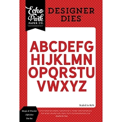 Echo Park - Designer Dies - Magic and Wonder Alphabet Die