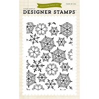 Echo Park -  Clear Stamps - Snowflakes #1 Background
