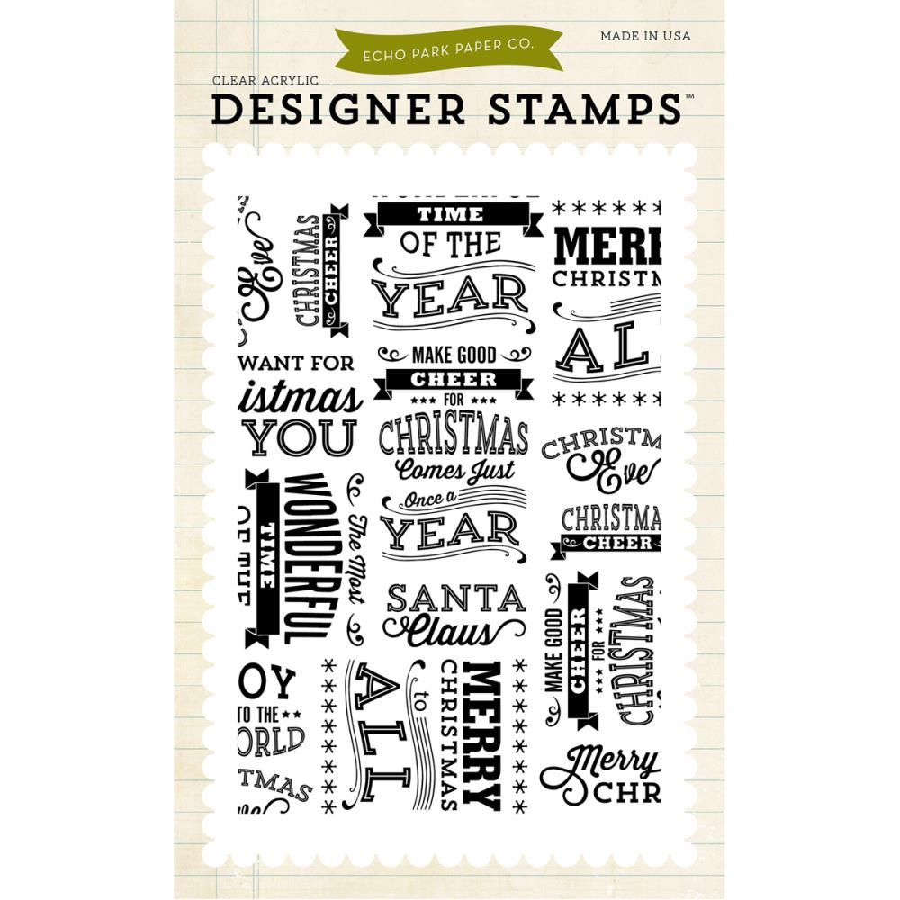 Christmas Subway Art.Echo Park Clear Stamps Christmas Subway Art Background