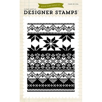 Echo Park -  Clear Stamps - Fair Isle Sweater Knit Background