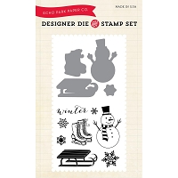 Echo Park - Designer Die & Clear Stamp Combo Set - Snow Day :)