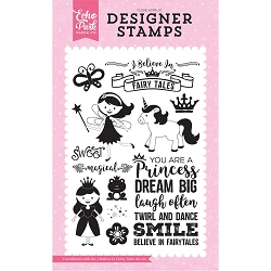 Echo Park - Perfect Princess Collection - I Believe In Fairy Tales Clear Stamps