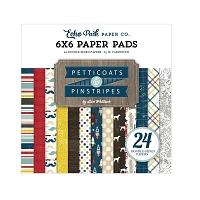 Echo Park - Petticoats & Pinstripes (Boy) Collection - Boy 6x6 Paper Pad