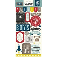 Echo Park - Petticoats & Pinstripes (Boy) Collection - 6x12 Chipboard