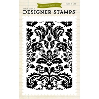 Echo Park - Designer Clear Stamp - Acorn Damask Background Clear Stamps