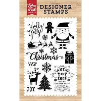 Echo Park - I Love Christmas Collection - Holly Jolly Clear Stamps