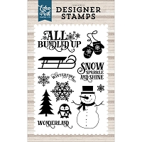 Echo Park - I Love Winter Collection - Winter Wonderland Clear Stamps
