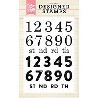 Echo Park - Designer Clear Stamps - Countdown Numbers