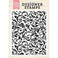 Echo Park - Designer Clear Stamps - Flourish A2 Clear Stamp