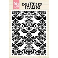 Echo Park - Designer Clear Stamps - Fancy Damask A2 Clear Stamp