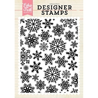 Echo Park - Designer Clear Stamps - Winter Snow A2 Clear Stamp