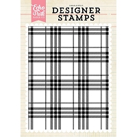 Echo Park - Designer Clear Stamps - Perfect Plaid A2 Clear Stamp