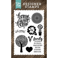 Echo Park - I Love Family Collection - Family Home Clear Stamps