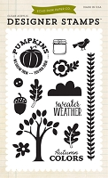Echo Park - The Story of Fall Collection - Sweater Weather Clear Stamps