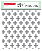 Echo Park - The Story of Christmas Collection - Swiss Cross Stencil (6