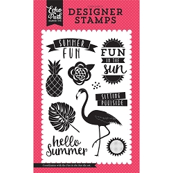 Echo Park - Summer Fun Collection - Fun In The Sun Clear Stamps