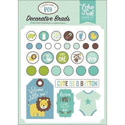Echo Park - Sweet Baby Boy Collection - Decorative Brads :)