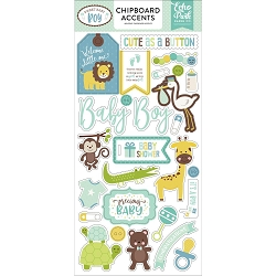 Echo Park - Sweet Baby Boy Collection - 6x12 Chipboard Accents