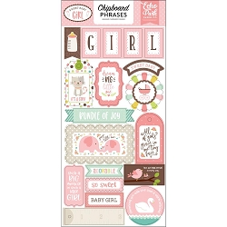 Echo Park - Sweet Baby Girl Collection - 6x12 Chipboard Phrases