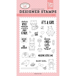 Echo Park - Sweet Baby Girl Collection - Dream Big Little One Clear Stamps