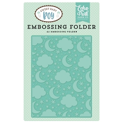 Echo Park - Sweet Baby Boy Collection - Embossing Folder - Sleep Tight