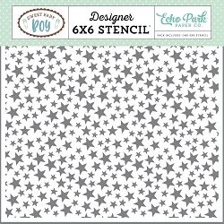 Echo Park - Sweet Baby Boy Collection - 6x6 Stencil - Twinkle Twinkle