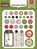 Echo Park - Tis The Season Collection by Cassandra Cooper - Decorative Brads