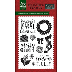 Echo Park - 'Twas The Night Before Christmas Collection - Holly Jolly Stamps