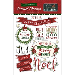 Echo Park - 'Twas The Night Before Christmas Collection - Enamel Words and Phrases