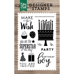 Echo Park - Desinger Clear Stamps - You Are Invited
