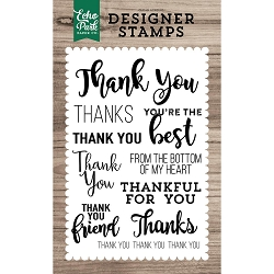 Echo Park - Desinger Clear Stamps - Many Thanks