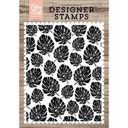 Echo Park - Desinger Clear Stamps - Palm Leaves Background A2 Clear Stamp