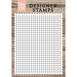 Echo Park - Desinger Clear Stamps - Grid Background A2 Clear Stamp