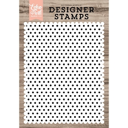 Echo Park - Desinger Clear Stamps - Polka Dot Background A2 Clear Stamp