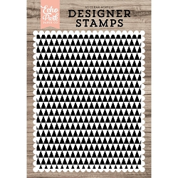 Echo Park - Desinger Clear Stamps - Modern Triangles Background A2 Clear Stamp