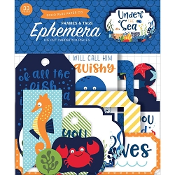 Echo Park - Under The Sea Collection - Die Cut Tags & Frames