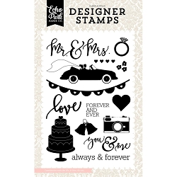 Echo Park - Wedding Bliss Collection - Mr & Mrs Clear Stamps