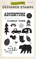 Echo Park - The Wild Life Collection - Adventure Time Clear Stamps