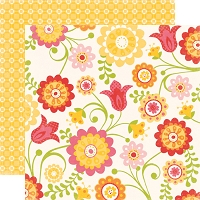 Echo Park - Hello Summer by Lori Whitlock -Paper - Happy Flowers