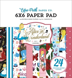 Echo Park - Alice in Wonderland Collection - 6x6 Paper Pad