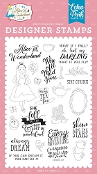 Echo Park - Alice in Wonderland Collection - Always Dream clear stamp