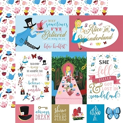 Echo Park - Alice in Wonderland Collection - Multi Journaling Cards 12